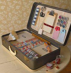 deko ideen vintage koffer organisationssystem materialien