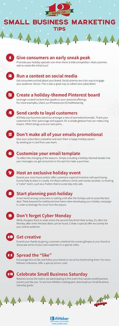 12 Days of Holiday Marketing Tips for Small Businesses #infographic #Business…