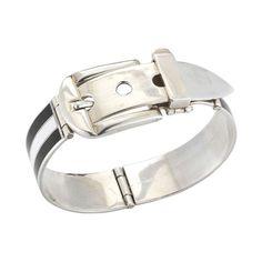 3fdc2a554d9 Gucci Sterling Silver  amp  Enamel Buckle Bracelet