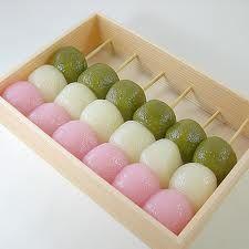 Hanami Dango balls.  <3  #Dango, dango, dango, dango, dango, dango family...#