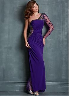 Stunning Chiffon & Tulle One Shoulder Neckline Floor-length Sheath Evening Dress. Get superb discounts up to 60% Off at Dressilyme with Coupon and Promo Codes.