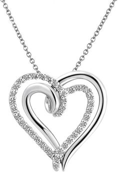 Two Hearts Forever One Sterling Silver 1/4-ct. T.W. Diamond Heart Pendant for Valentine's Day  https://api.shopstyle.com/action/apiVisitRetailer?id=437466614&pid=uid2500-37484350-28