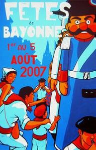 Fêtes de Bayonne 2007 - Erwin Dazelle Donald Duck, Disney Characters, Fictional Characters, Graphic Design Posters, Countries, Basque Country, Funny Pictures, Travel, Beauty