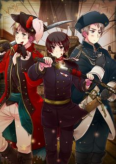 England, Prussia, and Japan - hetalia Photo