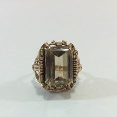 18K Yellow Gold Smoky Topaz Ring $940