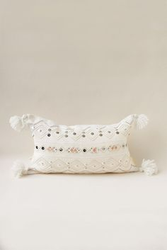 Coral Moroccan Sequin Pillow