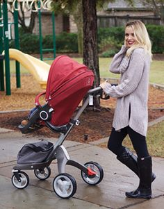 """Blogger says of Stokke Xplory: """"The Stokke® Xplory® is not only stylish, but provides the ultimate comfortable ride for our baby. If your baby is anything like our Truman, then you know how important it is for them to feel completely involved in whatever we are doing."""" via TRULY DESTINY"""