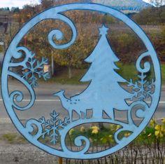 WICOART WINDOW COLOR STICKER STATIC CLING NOEL CHRISTMAS BLANC CERF ET SAPIN