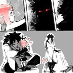 Indra and little Sakura. #indra #ootsutsuki #sakura