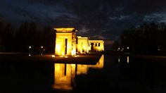 Temple of debod, originaly located in Egypt near aswan was built in the 2nd century BC as one small room then it was extended , was built as a tribute to the god Amon, after building aswan high dam it was relocated to Spain ,Madrid as a sign of gratitude for the help provided by Spain in saving the temples of Abu Simbel, the Egyptian state donated the temple of Debod to Spain in 1968. The temple was rebuilt in one of Madrid's parks, the Parque del Oeste, near the Royal Palace of Madrid.