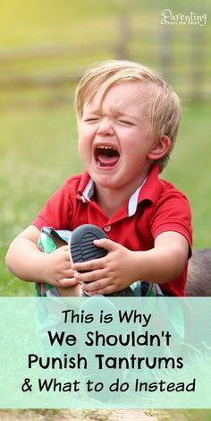 When your toddler or preschool melts down, has a tantrum, or cries for seemingly no reason, what should you do? Find out why we shouldn't punish tantrums and what we can do instead. These strategies for parenting toddlers and preschoolers are rooted in po