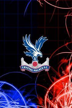 New badge Crystal Palace Wallpaper, Crystal Palace Fc, Football Wallpaper, Red And Blue, Badge, Neon Signs, Crystals, Ink, Club