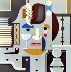 Clausen, Franciska (1899-1986) - Self-Portrait   Acrylic on canvas; 135 x 135 cm.