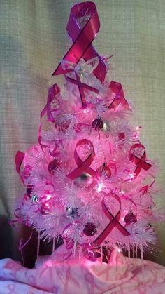 Breast cancer awareness is crucial! Pink Out, Go Pink, Pretty In Pink, Breast Cancer Support, Breast Cancer Survivor, Breast Cancer Awareness, Breast Cancer Crafts, Breast Cancer Wreath, Pink Christmas Tree