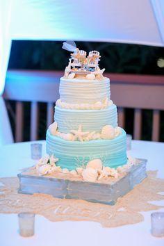 Wedding Cake Prices, Wedding Cake Designs, Wedding Cake Toppers, Wedding Ideas, Crazy Wedding Cakes, Beautiful Wedding Cakes, Clearwater Beach, Starfish Wedding Cake, Beach Wedding Cakes