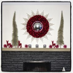 Decorate a #Holiday #mantle four different ways via http://lifeovereasy.com/ #Christmas