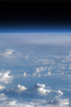 Space Horizon - from a Pacific thunderstorm to infinity. Photo by Chris Hadfield from the International Space Station.