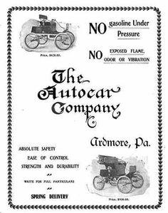 1900 Autocar Automobile Advertisement