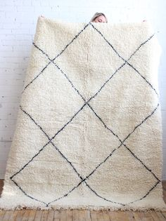 Vintage Beni Ourain Moroccan Rug 47106 Main Image By