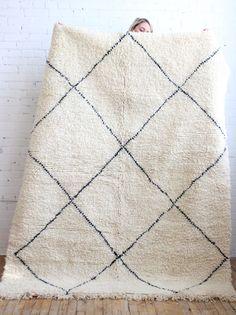 Beautiful authentic Beni Ourain rug, on sale via Baba Souk