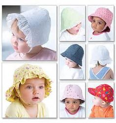 My favorite summer hat pattern. This link tells you what pattern # to get to make this (?these) hat.