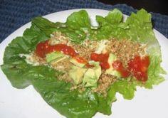 Raw vegan tacos w/cashew cheese & walnut filling