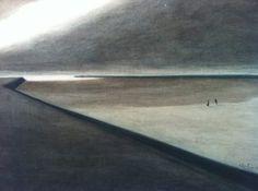 Leon Spilliaert - Dike and Beach 1907