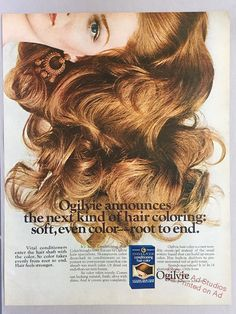 1970 Ogilvie Conditioning Hair Color Print Ad
