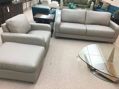 Brasilia apartement sofa - chair and storage ottoman by Jaymar.  From Ellis Brothers Furniture store