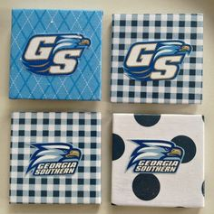 Georgia Southern Eagles Magnets by Jewlsbasement on Etsy, $12.99