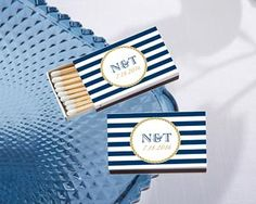 Personalized wedding matches with custom nautical themed stickers. Inexpensive matchbox favors from Wedding Favor Discount. Nautical Wedding Favors, Nautical Bridal Showers, Personalized Wedding Favors, Unique Wedding Favors, Nautical Theme, Unique Weddings, Nautical Rope, Nautical Design, Wedding Ideas