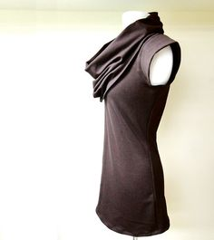 Organic french terry tunic shirt coffee brown or pick by econica