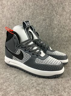low price 8e854 c86cd Swift Run Nike Lunar Force 1 Duckboot High Grey White Black Shoe