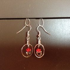 Red Bead/Hearts/Small Hoops