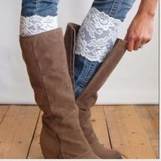 Boot cuffs new without tags Boot cuffs new without tags. Indicate what color you would like in the comments. The following are available: pink, purple, white, black, light pink, gray, nude. Accessories Hosiery & Socks