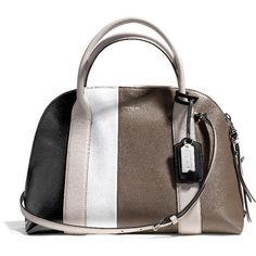BLEECKER PRESTON SATCHEL IN COLORBLOCK LEATHER (1.255 BRL) ❤ liked on Polyvore featuring bags, handbags, purses, bolsas, accessories, leather hand bags, satchel handbags, coach handbags, hand bags and leather satchel handbags