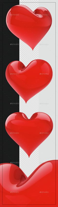 Hearts by elivic HEART 3D RENDERFeatures: Very large files (5300px up to 5800px). 300 DPI. Transparent Png