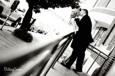 My favorite black and white photo from Emily and Landon's engagement session.   by Brittany Conner Photography