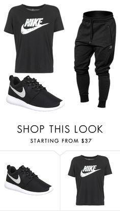 """""""Nike"""" by dchampton ❤ liked on Polyvore featuring NIKE, women's clothing, women, female, woman, misses and juniors"""