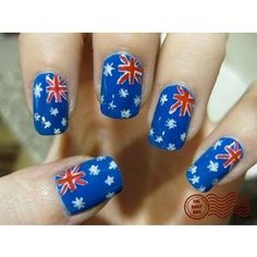 Its all about the polish australian flag nails fancy up your australian flag nail art prinsesfo Gallery