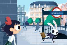 #illustration #childrenbook #childrenillustration #alice #aliceinwonderland #london #whiterabbit #rabbit #run #urban #city Alice In Wonderland Illustrations, My Arts, Children, Urban City, Movie Posters, Cities, Rabbit, Instagram, London