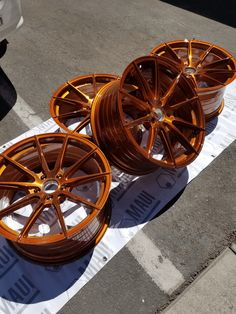 trans copper is a great color Custom Wheels And Tires, Car Wheels, Rims For Cars, Rims And Tires, Powder Coating Rims, Copper Paint Colors, Wheel Of Choice, Mustang Engine, Pink Rims