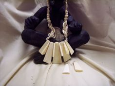 Contrast and Culture in One African Necklace Set