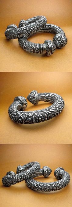 South India   Pair of anklets; silver    SOLD