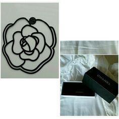 Chanel Camellia Bookmark and sunglasses box This is an exclusive creation motivated by Gabrielle Chanel's favorite flower camellia. I'm usually negotiable but for this listing my price is firm. CHANEL Other Sunglasses Box, Chanel Camellia, Place Card Holders, Flower, Shopping, Art, Style, Fashion, Art Background