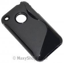 SSYL CUSTODIA S-LINE TPU SILICONE BACK COVER CASE APPLE IPHONE 3G 3GS BLACK NERO - SU WWW.MAXYSHOPPOWER.COM