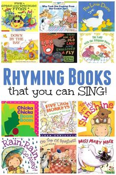 Rhyming Books that You Can SING! ~ Singing is a GREAT way to practice rhyming   This Reading Mama