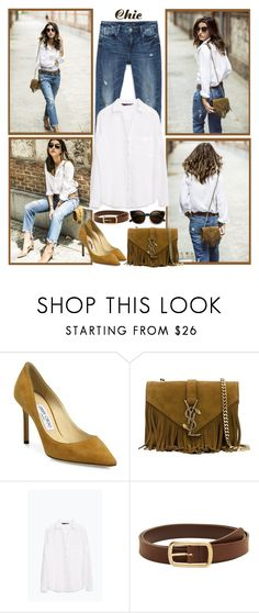"""""""Untitled #1192"""" by gallant81 ❤ liked on Polyvore featuring Jimmy Choo, Yves Saint Laurent, Zara, Violeta by Mango and ZeroUV"""
