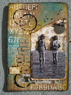 Never Enough Time!: Tim Holtz Art Journal Spread