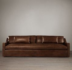 Belgian Classic Slope Arm Leather Sleeper Sofa #sleepersofa
